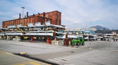 La chiatta arrivata il 3 gennaio a Genova